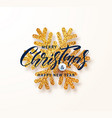 merry christmas and happy new yeargreeting card vector image
