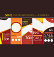multipurpose roll up banner vector image vector image