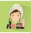 natural spa center icons vector image vector image