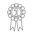 number one ribbon design vector image