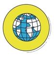 Planet sphere inside green button design