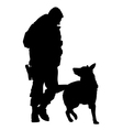 Police Dog Silhouette 5 vector image