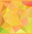 polygonal square background yellow orange green vector image