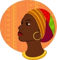 Portrait of African woman head vector image vector image