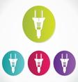 Power plug - cord icon vector image