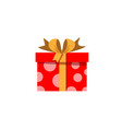 red gift box icon isolated on white background vector image vector image