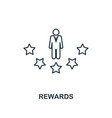 rewards outline icon thin line element from vector image