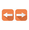 right and left arrows square orange signs vector image