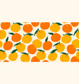seamless pattern with mandarins modern vector image vector image