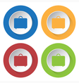 set of four icons - suitcase vector image vector image