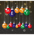 shiny colorful merry christmas in decoration vector image vector image