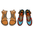 shoes boots vector image vector image