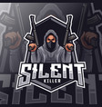 silent killer mascot logo esport vector image
