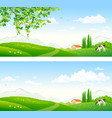 summer farm pasture vector image