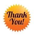 Thank you sticker Orange tag Icon vector image vector image
