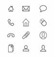 Thin Line Symbol Icon vector image vector image