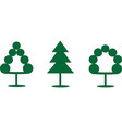 three schematic trees vector image vector image