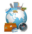 Travel Concept with Globe vector image vector image
