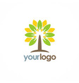 tree eco nature logo vector image vector image