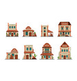 western buildings wild west architectural vector image vector image