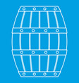 wooden barrel icon outline style vector image vector image