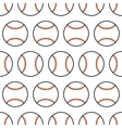 Baseball Seamless pattern with sport balls vector image