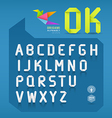 Paper origami alphabet letter design vector image