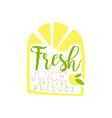 fresh juice natural product logo template lemon vector image