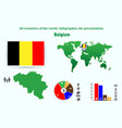 26 belgium all countries of the world vector image