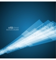Abstract background with waves and luminous rays vector image vector image