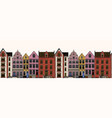 amsterdam houses seamless pattern urban vector image vector image