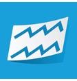 Aquarius sticker vector image vector image