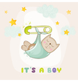 Baby Cat Sleeping - Baby Shower or Arrival Card