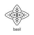 basil linear icon