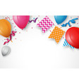 birthday celebration banner with bunting flags vector image