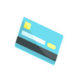 blue credit card cartoon vector image