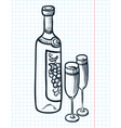 bottle of vine vector image vector image