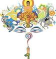 Buddha tree vector image vector image