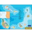 Cape Verde map vector image vector image