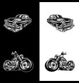 car bike vector image vector image