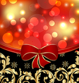 Christmas floral ornamental decoration for design vector image