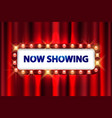 cinema movie poster design theater sign or vector image