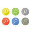 Collection of search symbol rounded icon with vector image vector image