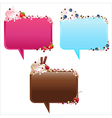 Collection Of Speech Bubbles With Ice-Cream vector image vector image