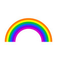 colourfull rainbow icon vector image