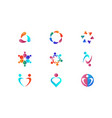 community health logo design template set vector image