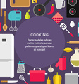 Cooking Concept Flat Style with Place for Text vector image vector image