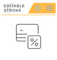 credit card interest rate editable stroke icon vector image vector image