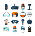 different symbols of virtual reality electronic vector image