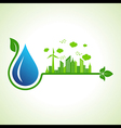 Ecology concept with water droplet - illus vector image vector image